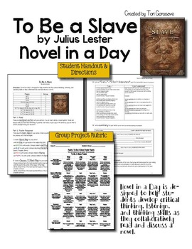 To Be A Slave by Julius Lester - Novel In A Day