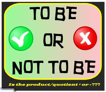 FREEBIE - To Be Or Not To Be - Is it (product/quotient) po