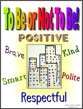 To Be Or Not To Be ( Poster with positive words)