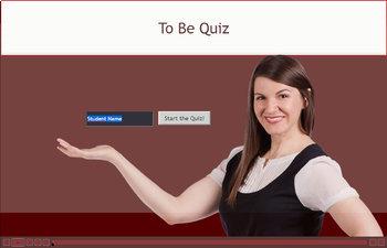 ESL / EFL Grammar Quiz: Verb To Be (Present form)