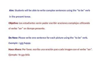 To Be Verb Conjugation - Present Tense (Beginner ESL) w Lesson Plan 2