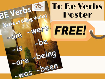 To Be Verb Poster Freebie