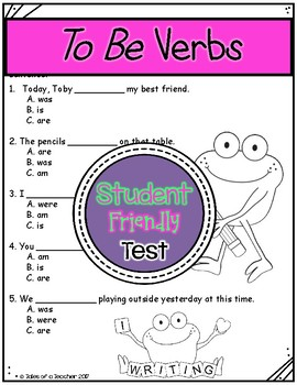 To Be Verb Test
