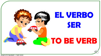 """""""To Be"""" Verb in Spanish. Power Point Presentation with audio."""