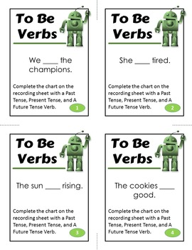 State of Being Verb Activity, To Be Verbs