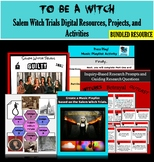 The Crucible Introduction: Salem Witch Trials and Puritans Activities & Projects