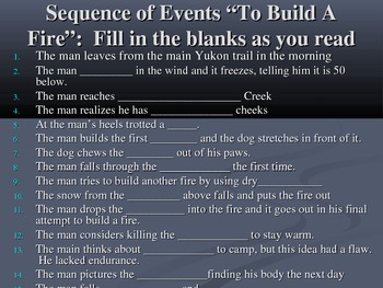 To Build A Fire Before During and After