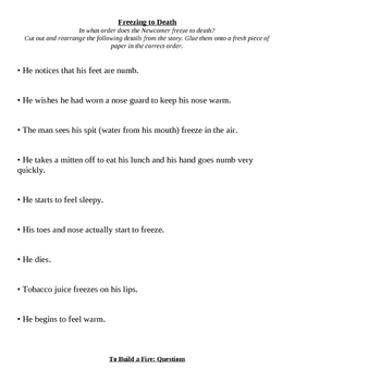 To Build A Fire - Full text, vocabulary, and activities