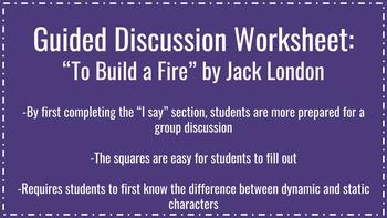 To Build a Fire - Guided Discussion Worksheet