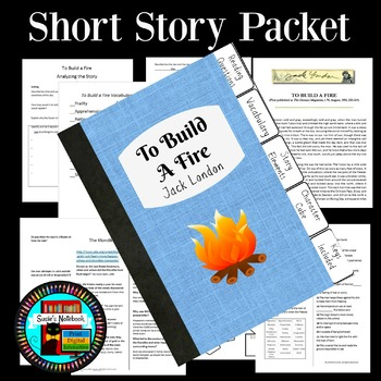 To Build a Fire Reading Questions, Vocabulary, Crossword, More