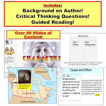 To Build a Fire by Jack London : Short Story PowerPoint