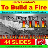 To Build a Fire by Jack London : Short Story PowerPoint, G