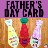Father's Day Tie Gift Card Booklet