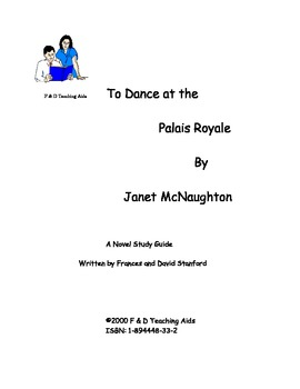 To Dance at the Palais Royale Novel Study Guide