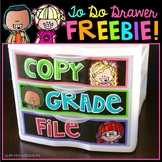 To Do Drawer Freebie - Brights Kidlettes Edition