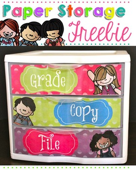 To Do Drawer Freebie { Melonheadz Polka Dot Edition}
