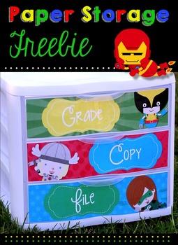 To Do Drawer Freebie - Superhero Edition