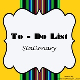 To Do List Stationary