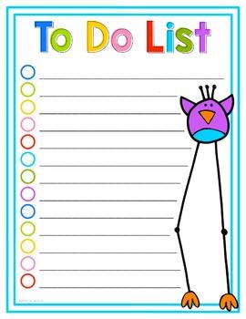 To Do List Birds