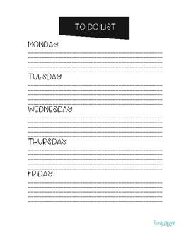 To Do List- Days