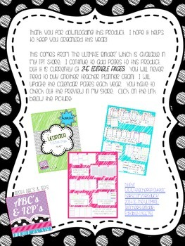 To-Do List FREEBIE ~ Editable!!!!