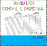To Do List (FREEBIE) Personal and School Related