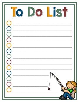 To Do List - Fishing