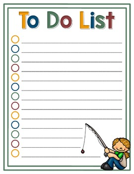 To Do List Fishing