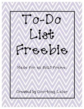 To-Do List Freebie!