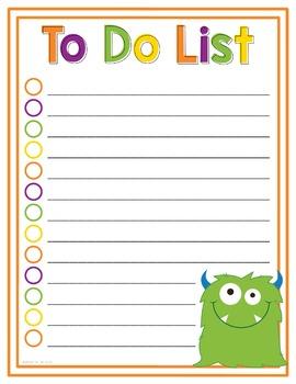 To Do List - Halloween