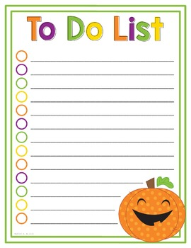 To Do List Halloween
