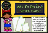 To Do List - Note Pad- Printable