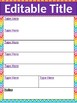 To Do List/ Organizers  EDITABLE