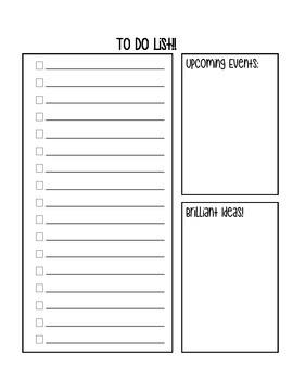 To Do List Printable for Teacher Binder