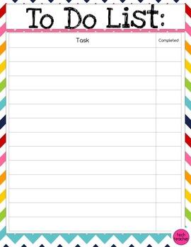 To-Do List- Rainbow