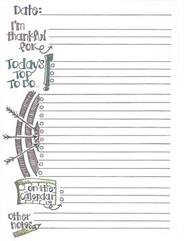 To Do List Sketchnote Style