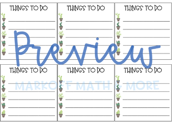 Cactus To Do Lists (Target Labels)