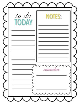 To Do List Template
