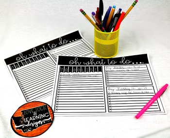 Editable To Do List Template