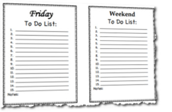 To Do List Template Variety Pack