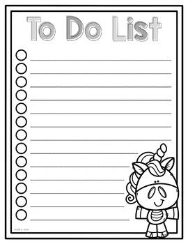 To Do List Unicorns