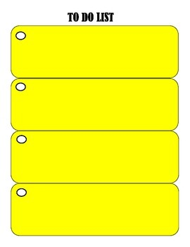 To Do List-Yellow Rectangles Design