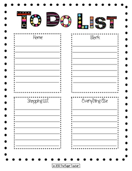 To Do List- dots