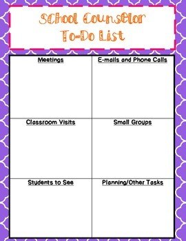 To-Do List for School Counselors {NEW}