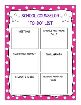 To-Do List for School Counselors (Pink)
