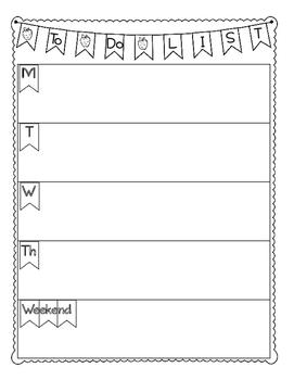 To Do List for Teacher Binder