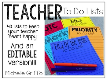 To Do Lists for Teachers