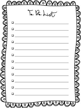 Black and White To Do Lists