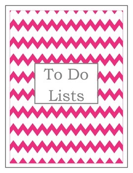 To Do Lists- A Teacher's Work is Never Done (2 color choices)