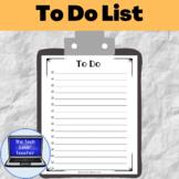 To Do Lists (Free)